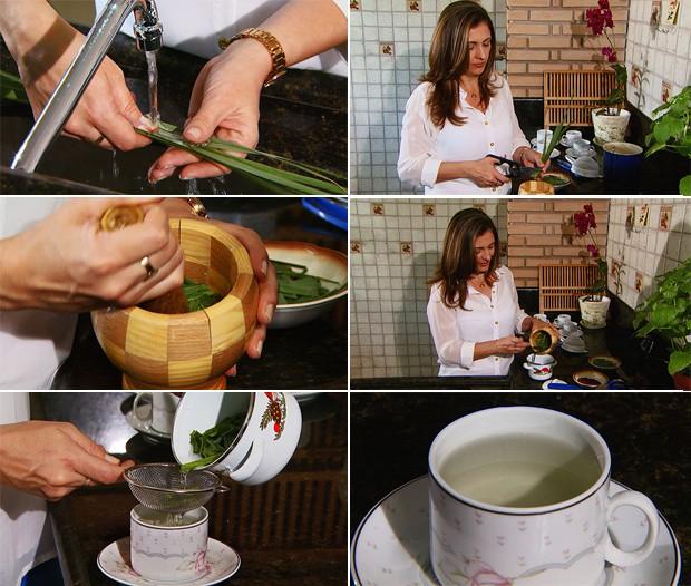 como fazer cha de erva cidreira