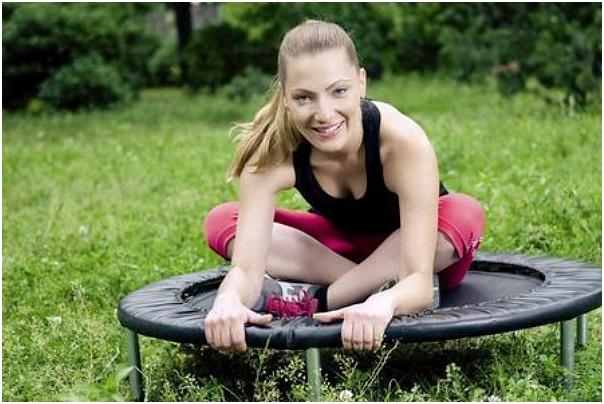 exercícios com trampolim