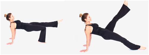 pilates exercício leg pull back
