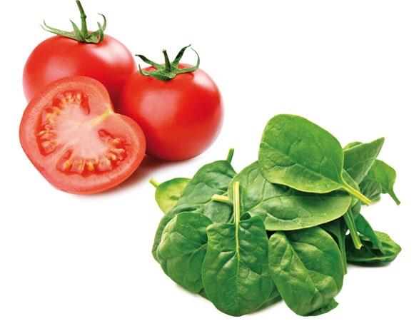tomate espinafre e cenoura são alimentos que melhoram a concentração
