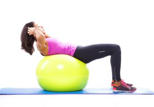 Abdominals with a fitness ball