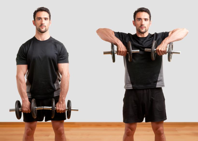 Desenvolvimento de exercícios para os ombros