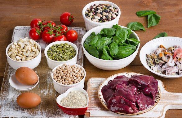 Resultado de imagem para alimentos com ferro