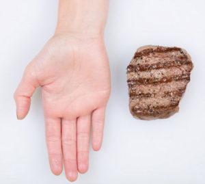 quantidade de carne branca