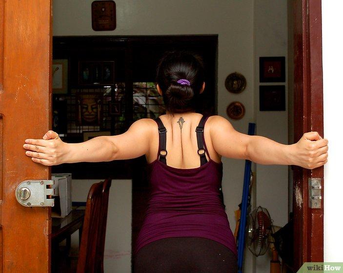 alongamento na porta