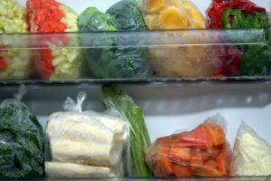 congelar as verduras