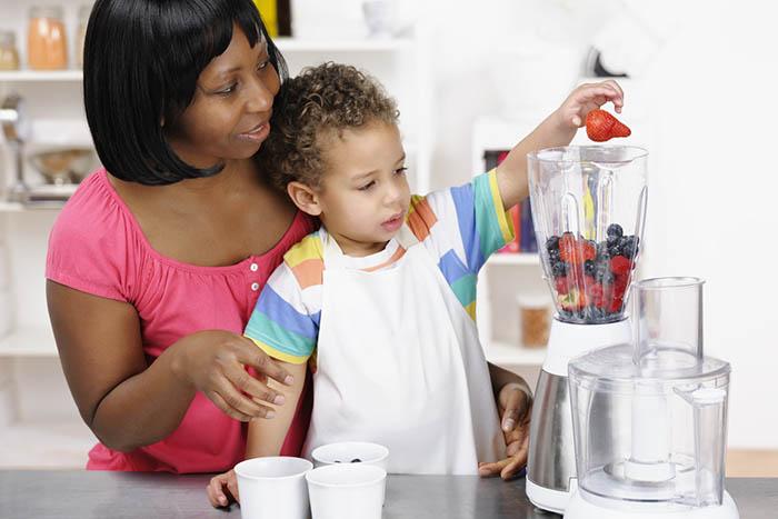 receita de vitamina fruta para crianca