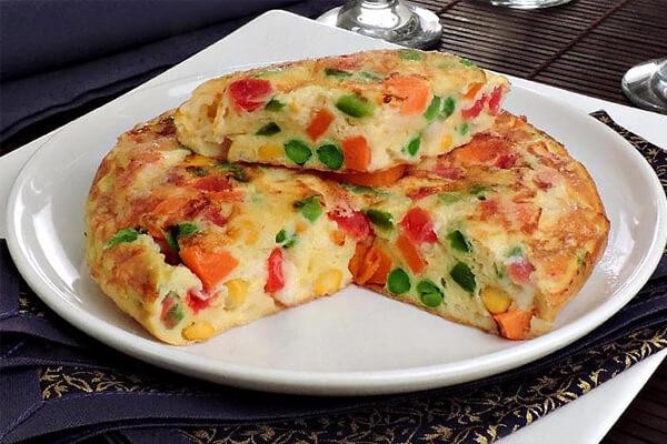 receita fit omelete de legumes