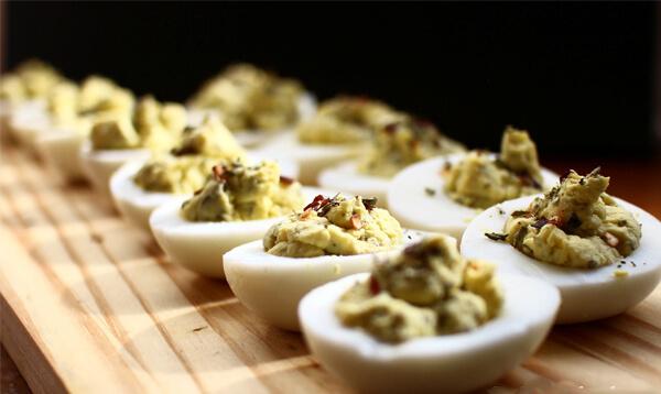 receita de ovos rechados low carb