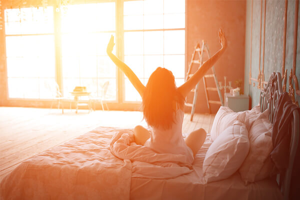 acordar cedo e com disposição