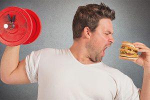 comer muito e se exercitar compensa