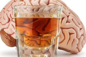 álcool no cérebro