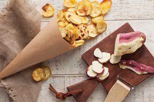 batata-doce como consumir chips