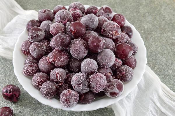 uvas congeladas para substituir açúcar