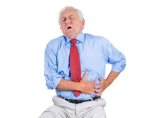 dor no lado esquerdo da barriga