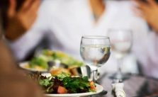 Bebida durante as refeições